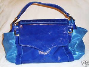 BNWT-BEAUTIFUL-REBECCA-MINKOFF-ELECTRIC-BLUE-LEATHER-HANDBAG-DREAM