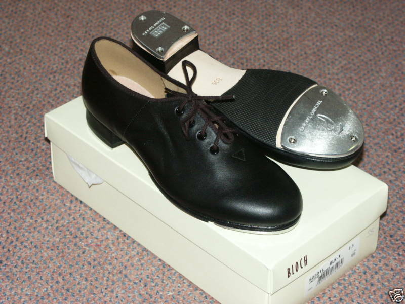 Bloch S0301l Ladies Jazz Leather Tap Shoes With Techno Taps, Various Sizes