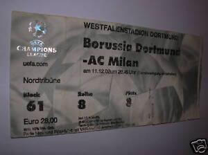 used ticket Borussia Dortmund - AC Milan 11.02.02 C. L. - Kraków, Polska - used ticket Borussia Dortmund - AC Milan 11.02.02 C. L. - Kraków, Polska