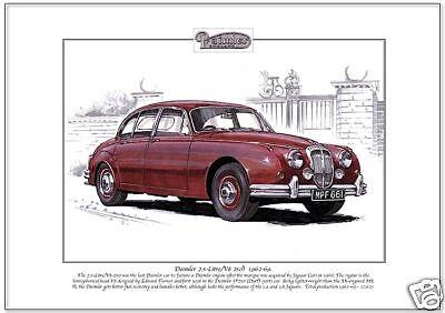 DAIMLER 2.5 Litre (V8 250) produced 1962-69 - Fine Art Print - A4 size - V8 Hemi
