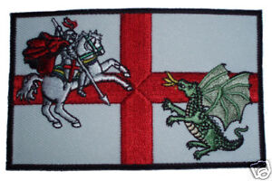 St George & Dragon iron or sew on badge  ENGLAND PATCH