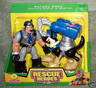 Rescue Heroes 2005 Nature Crew Captain Cuffs & Buster Figure Set