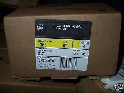 Ge Tn162 Insulated Groundable Neutral Grounded Bar Tni62 30 Amp 600 V