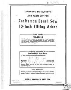 Sears-Craftsman-Table-Saw-Manual-Model-113-27520