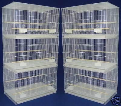 Lot of 6 Aviary Breeding Breeder Bird Cages 24x16x16--2424 White -371