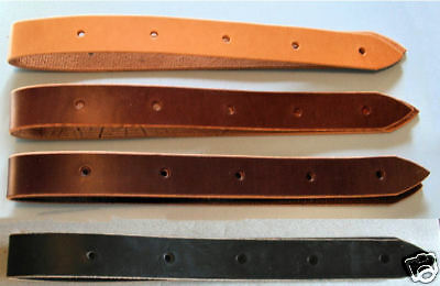 Amish Made Latigo Genuine Leather 3-foot Off Billet Cinch Strap Dark Oil Brown