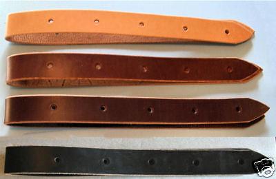 Amish Made Latigo Genuine Leather 3-foot Off Billet Cinch Strap Dark Oil Brown