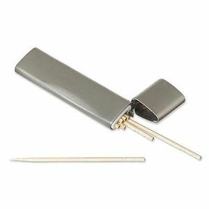 travel pocket metal toothpick holder oral health care ebay