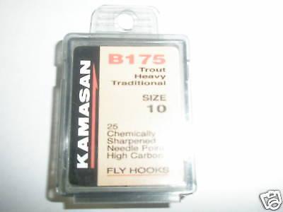 Kamasan 2 X B175 Boxed Fly Hooks Sz12 Heavy Traditional