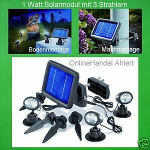 LED Solarstrahler Solarspot Solarleuchte Solarlampe TRIO Solar Gartenstrahler !!
