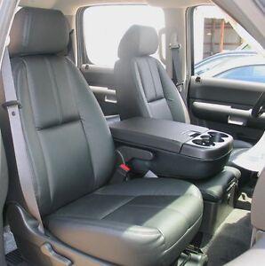 2007 2009 silverado crew leather interior seat covers black ebay. Black Bedroom Furniture Sets. Home Design Ideas