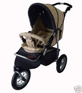NEW MAMAKIDDIES 3 WHEEL PRAM BUGGY STROLLER JOGGER