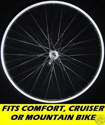 26 Inch Front Mountain Bike Wheel Alloy Qr Mtb 36h Comfort Cruiser Bicycle