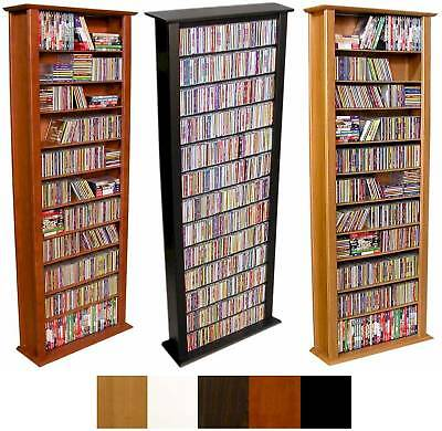 754 cd 312 dvd 76 tall tower cd dvd storage rack new ebay - Cd storage rack tower ...