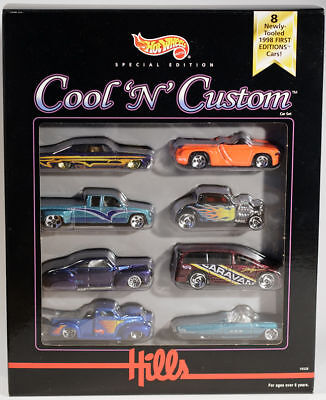 Hot Wheels Hills Exclusive Limited Edition Cool Custom 8 First Edition Cars 1998