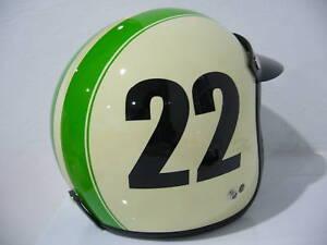 Vintage green vespa helmet here casual
