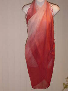 Details about N SARONG WINE MAUVE OMBRE WRAP MULTI USE DRESS COVER UP