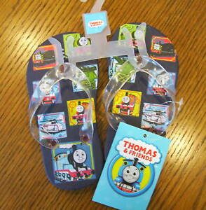 nwt thomas friends train blue flip flop sandals 5 6 free us shipping