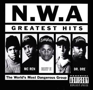 N.W.A. - GREATEST HITS CD ICE CUBE~DR DRE~EAZY E~YELLA~MC REN~RAP NWA 80's *NEW*