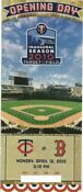 Minnesota Twins Opening Day Tickets