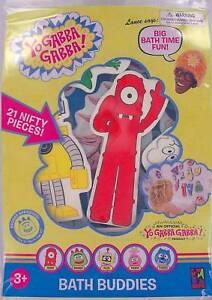 YO-GABBA-GABBA-Bath-Buddies-SET-OF-21-Muno-Brobee-Foofa