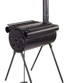 PORTABLE-TENT-CAMPING-STEEL-WOOD-STOVE-HUNTING-FISHING
