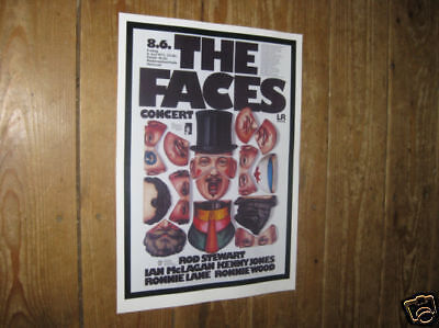 The Faces Rod Stewart Repro Tour POSTER Hat