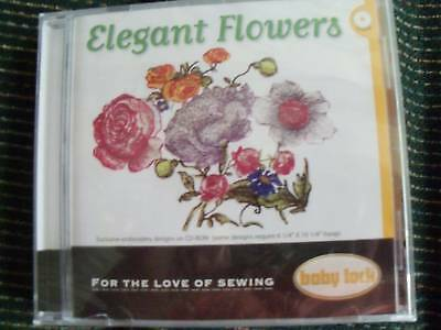 Babylock Embroidery Designs Elegant Flowers Cd-rom