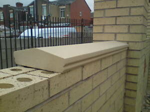 cast stone  wall copings, walling. apex copings