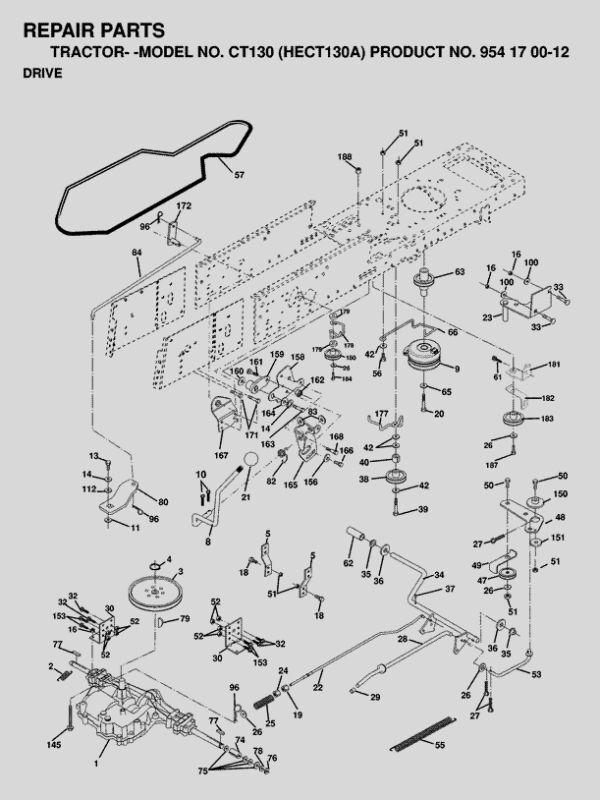 Ebay HUSQVARNA MANUAL GEAR TRANSMISSION DRIVE BELT CT130