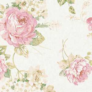 Linen-Cotton-Curtain-Cover-Drapery-Fabric-Antique-Floral-Rose-Oatmeal-Ivory-54-w