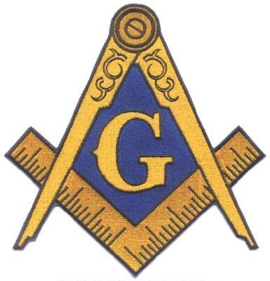 Masonic Large Iron-on Embroidered Jacket Emblem Patch (mp_8)