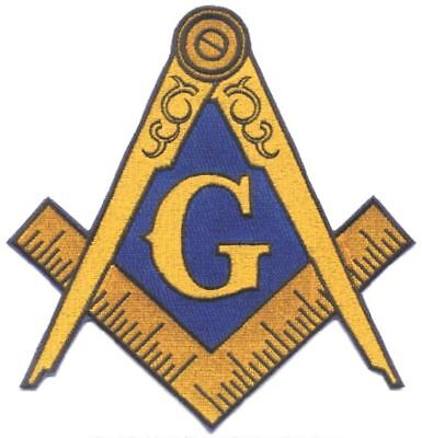 Masonic Large Iron-on Embroidered Jacket Emblem Patch (mp_8)