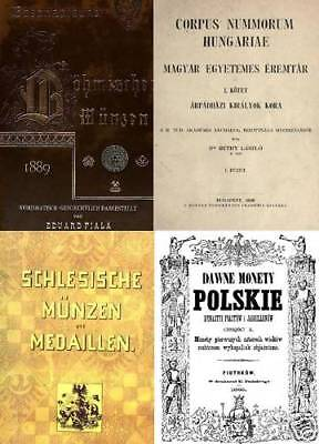 DVD 125 books on coins Poland Bohemia Hungary Serbia Croatia Bulgaria Romania  on Rummage