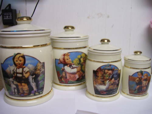 Hummel 4 Pc Canister Set Danbury Mint