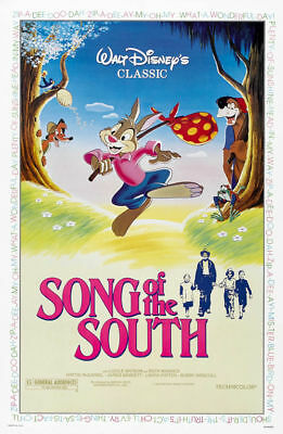 Song of the south Disney vintage movie poster print ##A41 on Rummage