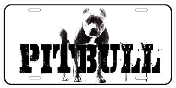 Pitbull Dog Aluminum Novelty Auto Car License Plate