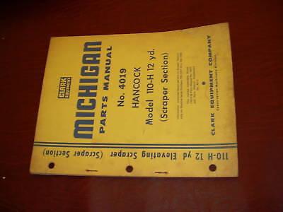 Clark Michigan Shovel Tractor 110 Scraper Manual