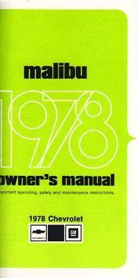 1978 Chevrolet Malibu Owners Manual