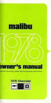 1978 Chevrolet Malibu Owners Manual