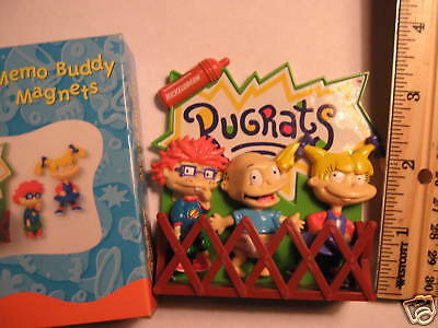 NICKELODEON RUGRATS TOMMY,CHUCKIE& ANGELICA MAGNETS SET on Rummage