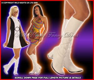 60s-70s-LADIES-HIPPY-GOGO-BOOTS-INC-WHITE-PINK-SILVER