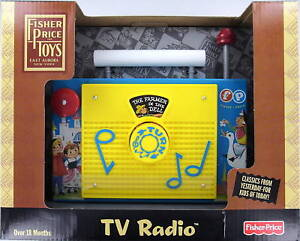 Fisher-Price-TV-RADIO-Preschool-Wind-Up-TOY-New-FP-NIB