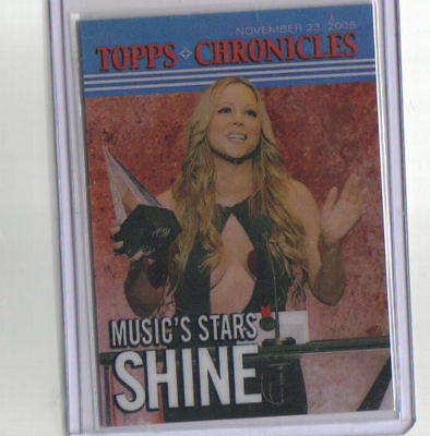2005 TOPPS CHRONICLES MARIAH CAREY AMA AWARDS CARD