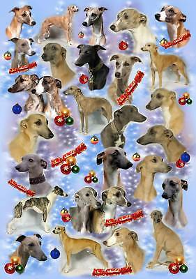 Whippet Christmas Wrapping Paper By Starprint - Auto combined postage