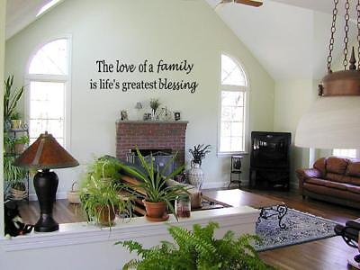 Love Of A Family Vinyl Wall Art Decal Home Quote  36
