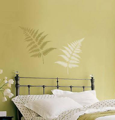 Fern Leaves Stencil Kit - 2-piece - Large - Stencils For Crafts & Diy Wall Decor