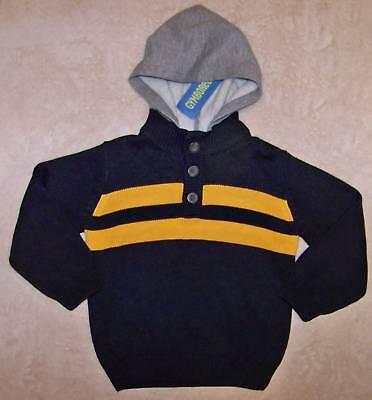Gymboree Ahoy Matey Navy Blue Hooded Sweater Xs 3 4