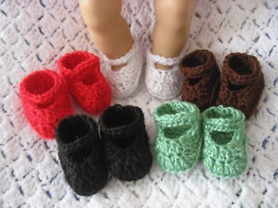 CROCHET DOLL SHOES FOR AMERICAN GIRL AND BITTY BABY - Lot 1