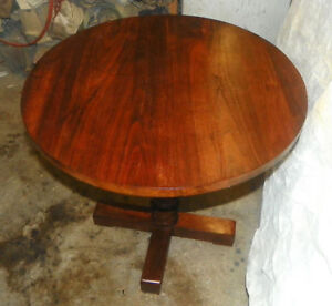 Solid-Walnut-Round-Lamp-Table-Side-Table-T231